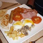 full English breakfast that my hubby had every day at Brookside B&B