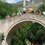 Mostar.Crooked Bridge.