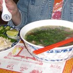 Fresh & flavorful pho (beef noodle soup) at Vientiane in Grand Island
