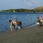 horseriding on the beach