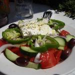  greek salad at elpida