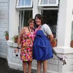 me and ma sister in law outside the arden guest hous