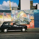 Black taxi on The Falls Road, Republican