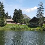 Rear view of Auberge du Lac des Joncs, Les Paccots, Switzerland, August, 2009