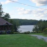  View of the lake and the dining hall porch
