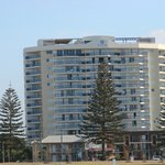 The Wyndham from the beach.