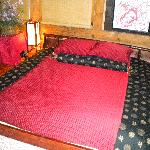 Futon bed on tatami mat