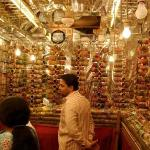 Inside one of the 'bangle' shops at the Laad Bazaar