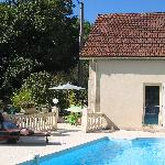 small guest house and pool