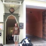 Entrance of the hostel, directly next to the oldest pub in Tallinn!