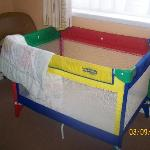 the playpen with a quilt you could see through when you held it up!! RANK!!