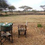 There are even a few tables outside for breakfast or after-safari-drink