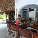 Palapa bar and buffet breakfast