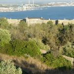 Looking down into the Fort and Setubal