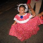  Little girl in the pollera