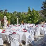 Terrace before guests arrive