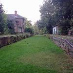 The former station in the country park.