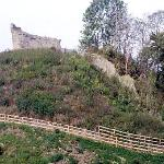 The remains of Clare Castle in the country park.