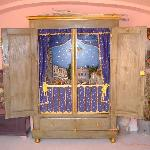 "The ""Cattolic Italian Presepe"" built inside an old armoire"