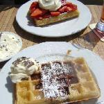  waffles from hotel! mmmm!