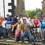 The cycling gang with B&B owners