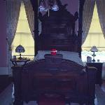 CA Miller Suite tester bed with my daughters teddy on the footboard to prove I was there.