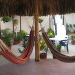  The patio with hammocks and free WIFI and TV