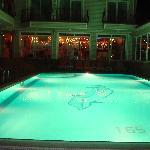 Night Time around the pool from the outside Bar