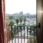  View outside our room to the Marina below