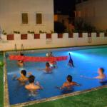 pool volleyball at night!