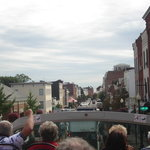 view of Georgetown from top of bus