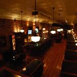 The inside of Sam Kendall's with it's original heart pine floors and tin ceilings.