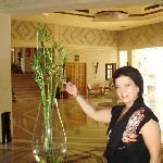 central hall of the hotel lobby with wonderful bamboo