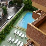 view of pool from 6th floor, room 6d