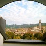 View of historic town of Soave from 4th floor suite
