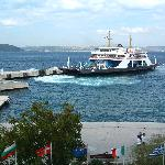  Ferry departures in front of hotel