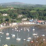 Fishguard harbour with the Preselis behind
