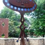 Ancestral guardian in front of the Anacostia Community Museum
