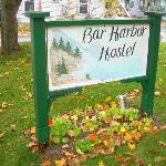  Bar Harbor Hostel Sign