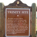 Trinity Site historical marker off the highway