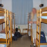  8 bed dorm room, the other 6 beds were empty while we were stayed