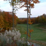 Overlooking Hawk's Eye golf course