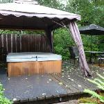 The hot tub on a rainy day...