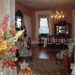 Parlor and dining room