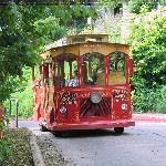  Galena tour trolley on Prospect Street down in front of the Grandview
