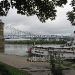 Ohio River only steps away from the Amos Shinkle Townhouse B&B