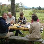 Lunch in the vineyard