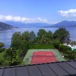 "Here is the ""famous"" view to the lake from the room balcony"