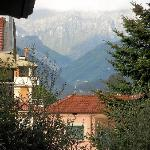 view of the alpi apuane from the balcony