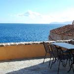 the terrace with sea view